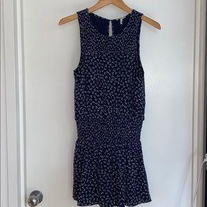 Jore silk navy floral dress